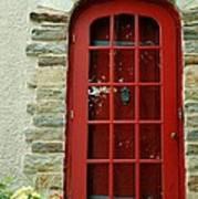 Red Door In Baltimore Art Print