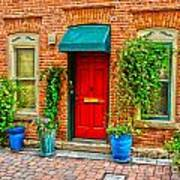 Red Door Print by Baywest Imaging