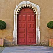 Red Door Of Caldas De Rainha Art Print