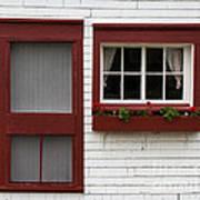 Red Door Red Window Art Print