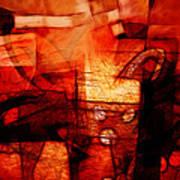 Red Drama Art Print
