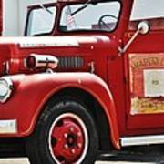 Red Fire Truck Art Print