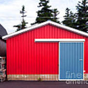 Red Fishing Shack Pei Print by Edward Fielding