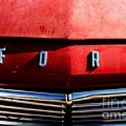 Red Ford 1 Art Print