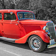 Red Ford 3d21740 Art Print