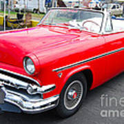 Red Ford Convertible Art Print