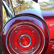 Red Ford Tailight Art Print