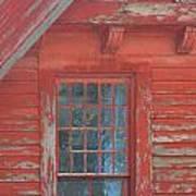 Red Gable Window Art Print