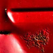 Red Gash Art Print