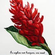 Red Ginger Poem Art Print