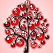 Red Glass Ornaments Art Print