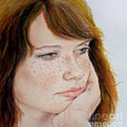 Red Hair And Freckled IIi Art Print