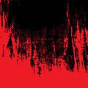 Red Halftone 1 Art Print