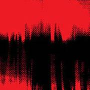 Red Halftone 2 Art Print