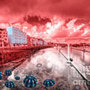 Red Harbouring  Art Print
