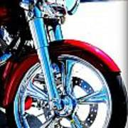 Red Harley Davidson  Art Print