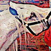 Red Hay Bag Art Print