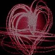 Red Heart Art Print by Aya Murrells