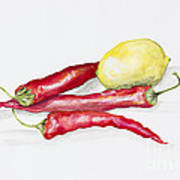 Red Hot Chili Peppers And Lemone Art Print
