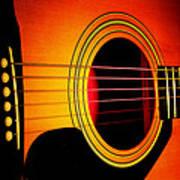 Red Hot Guitar Art Print