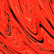 Red Hot Lava Flowing Down Art Print