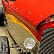 Street Car - Red Hot Rod Art Print