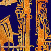 Red Hot Sax Keys Art Print