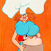 Red Hot Sue Does Barbecue  Art Print