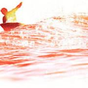 Red Hot Surfer Art Print
