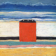 Red House, 1932 Oil On Canvas Art Print