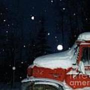 Red International Singing Those Deep Winter Blues  Art Print