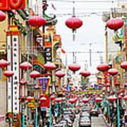 Red Lanterns Of Chinatown Art Print