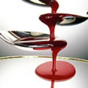 Red Liquid Fountain Art Print
