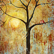 Red Love Birds In A Tree Art Print