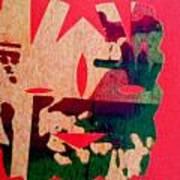 Red-mask Art Print by Dorothy Rafferty