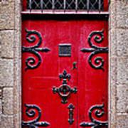 Red Medieval Door Art Print by Elena Elisseeva