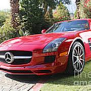 Red Mercedes Benz Art Print