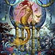Red Mermaid Art Print