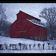 Red Mill Antique Barn Art Print