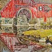 Red Mill II Art Print