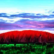 Red Mountain Sunset Art Print
