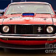 Red Mustang Art Print