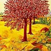 Red Oaks  Pop Art Art Print