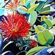 Red Ohia Lehua Flower Art Print