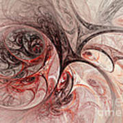 Red Passion - Abstract Art Art Print