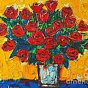 Red Passion Roses Art Print by Ana Maria Edulescu