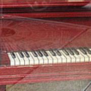 Red Piano 2 Art Print