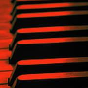 Red Piano Art Print