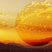 Red Planet Sunset Art Print