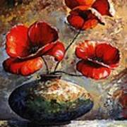 Red Poppies 02 Art Print